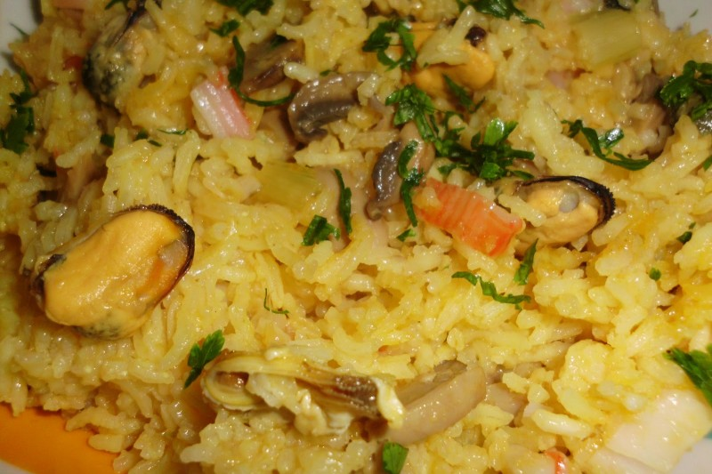 Arroz com Mexilhão